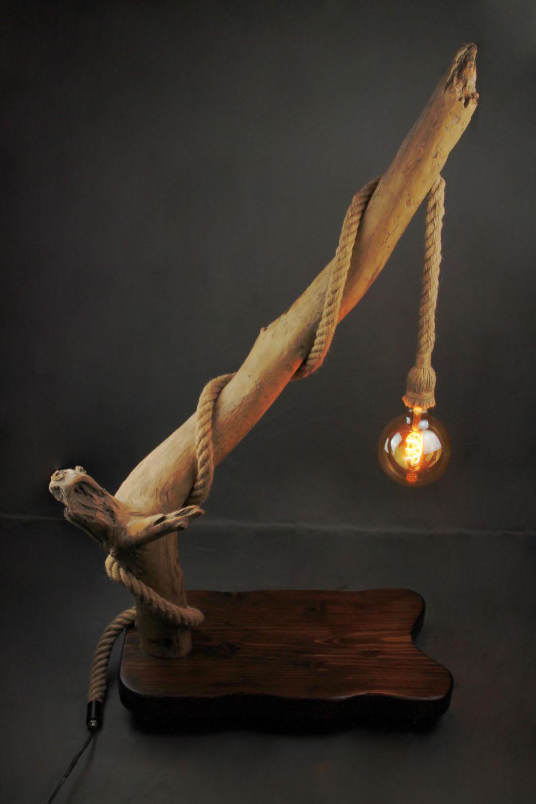 Créations En Bois Flotté luminaire bois flotté | lampe ascension, sbands créations