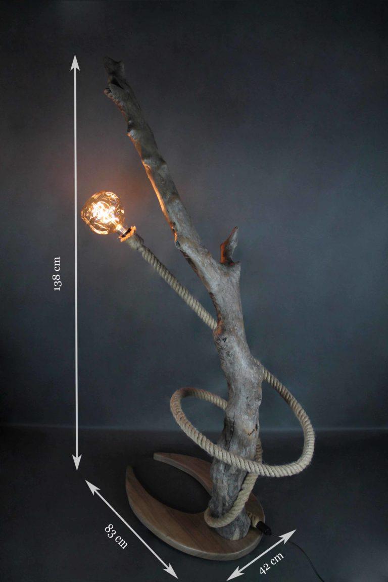 lampe avec corde de bateau