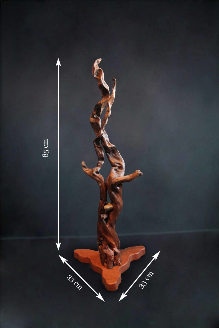 sculpture contemporaine bois flotté