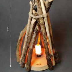faux feu de cheminée décoratif